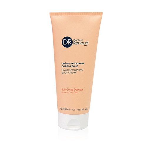 Closeup   peach exfoliating body cream
