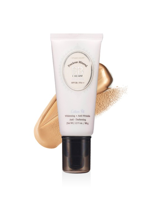 Closeup   precious mineral bb cream cotton fit w24