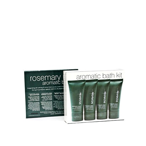 Closeup   aromatic bath kit  rosemary mint 4pcs x 60ml