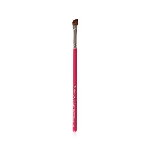 Closeup   34 angled eyeshadow brush pink